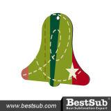 クリスマスのハードボードの昇華装飾鐘(HBOM07)