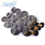 Волосы Remy новой объемной волны цвета серебра звезды бразильские