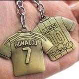 Metal de bronze feito sob encomenda Keychain da lembrança do futebol do Sell quente do preço de fábrica