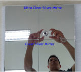 Double Coatedの2-6mm Clear Silver Mirror Glass