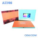 Bekanntmachen 7 Zoll der handgemachten LCD-videobroschüre-Karte mit kundenspezifischem Firmenzeichen