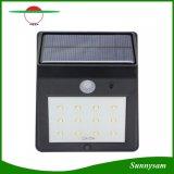 """12 """"Marche/Arrêt"""" automatiques solaires imperméables à l'eau de lampe de mur de détecteur de mouvement d'éclairage LED pour les lumières extérieures d'horizontal de lampes de pelouse de toit de yard de frontière de sécurité de jardin"""