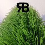 Campo de fútbol del balompié que ajardina la hierba artificial del sintético del césped de la alfombra de 40-50m m