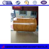 El patrón de grano de madera (GI, GL), bobinas de acero, PPGL PPGI