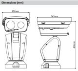 Dahua 2MP 48X Navigationsanlage Netz-Laser-IR (PTZ12248V-LR8-N)