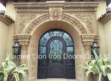 Ultimo delle entrate principali portello di entrata esterno superiore rotondo d'acciaio del ferro in pieno