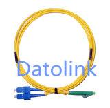 Het Koord LC/APC-LC/Upc Sm van het Flard van de vezel OS2 9/125 Simplex