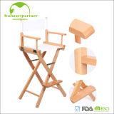 Director de madera alto plegable Chair del artista de maquillaje