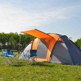De onmiddellijke Tent van de Koepel Polyeater voor het Openlucht Kamperen Zilveren Met een laag bedekte Flysheet van de Familie van Personen 8+