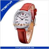 Montre-bracelet de luxe de qualité de quartz avec le cuir véritable