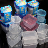 Rould/Square accatastabile Type 4-Piece Plastic Food Container