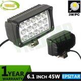 45W 6.1inch Epistar Auto Offroad Lámpara Luz LED de trabajo