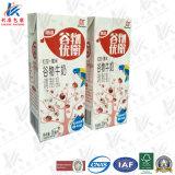 Caixa asséptica colorida do suco e do leite que empacota a base 250ml