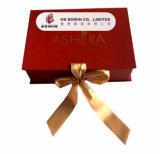 Rectángulo de regalo de lujo de la cinta que empaqueta, rectángulo plegable de la cinta