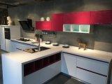 Hangzhou 2017 ha personalizzato l'armadio da cucina di legno della lacca del portello di disegno moderno di stile