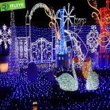 Proyecto de Navidad decoración iluminación LED LED Escultura animales decoración cisne