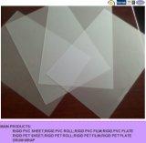Mate transparente de plástico transparente de PVC rígido hoja para imprimir