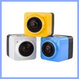 Cubo 360 Mini Sports Action Camera 720p 360-Degree Large Panoramic Shot Sports Camera con WiFi Support fino a 32GB Memory Card