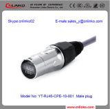 Cat5e RJ45 LEDのキャビネットConnector/IP68によって高耐久化されるRJ45データコネクター