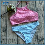 Geometrie gedruckter Badebekleidungs-Frauen-Sport-Badeanzug-Bikini
