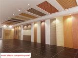 Panneau de mur composé en plastique en bois de matériaux de décoration intérieure