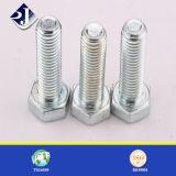 Venda quente DIN933 / DIN931 / DIN6921 Prateleira hexagonal galvanizada de aço carbono de todos os graus