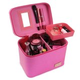 Mise à niveau à nouveau style Croco cosmétique Portable Boîte de rangement en cuir, grande capacité de voyager Cosmetic Box/cas avec la sélection multicolore