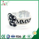 Estilo Popular Braceletes Pulseira bracelete de Silicone Contratante Bangle, totalmente personalizável