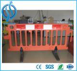 Cerca plástica portátil da barreira da segurança de estrada do tráfego