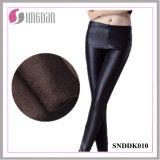 Зимний теплый провод фиолетового цвета кожи плюс размер утолщения Leggings Sexy брюки