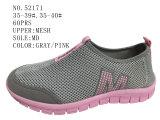 Gris maille rose Femmes Chaussures de loisirs