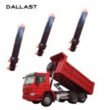 Único cilindro hidráulico ativo cromado para o caminhão dos desperdícios