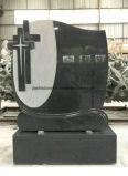 Pietra tombale commemorativa del granito del cammeo della traversa del Headstone del cimitero di pietra dei monumenti del Graveside