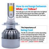 Lumen-bester Helligkeit PFEILER LED 3800-H7 Scheinwerfer mit Doppellicht des farben-Auto-LED und 35W VERSTECKTER Installationssatz-Quelle die Fabrik