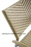 Barato Conjunto jardim exterior como Top Quality Sythetic PE-móveis de vime Varanda definido pela cadeira e mesa de café (YT055)