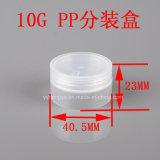 10g Clear pp Plastic Empty Cosmetic Jar