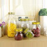 型様式のガラス台所食糧記憶の込み合いの缶詰になるメーソンジャー