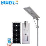 60W дешевые светодиодного освещения производство для использования вне помещений все в одном интегрированном солнечной уличных фонарей