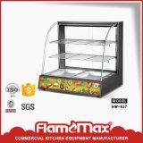Showcase de aquecimento de vidro curvado para o indicador do alimento (HW-827A)