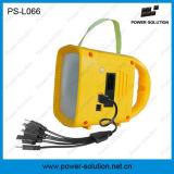 Фонарик радиоего солнечной силы с светом портативная пишущая машинка СИД mp3 плэйер заряжателя USB многофункциональным