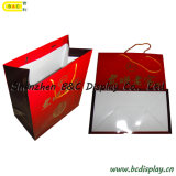 Saco de papel de compra da alta qualidade com os punhos com GV (B&C-I037)