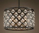 Phine Pendente de moda de decoração interior da lâmpada de iluminação com o Crystal