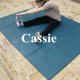 Azulejo de goma de interior, azulejo de suelo de goma, azulejo del caucho de la gimnasia