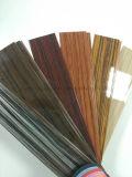 Bande en bois décorative en plastique lustrée de bordure foncée