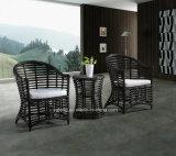 表および椅子(YT615)が付いているセットを食事する普及したデザイン柳細工の家具の屋外の庭