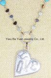 Halsband van de Tegenhanger van het Hart van de Liefde van de manier de Anti Zilveren Met de hand gemaakte