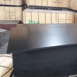 Madera impermeable de la madera contrachapada de la cara de la película del negro de la base del álamo (9X1250X2500m m)