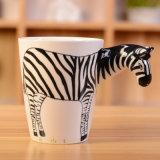 Animal creativo Mug de cerámica con asa de la jirafa