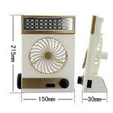 Пластиковый открытый аварийный индикатор USB аккумулятор вентилятора солнечной энергии