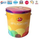 Het Tin van de Emmer van het Pakket van de Popcorn van het metaal